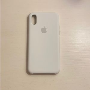 Apple iPhone X/XS White silicone Case